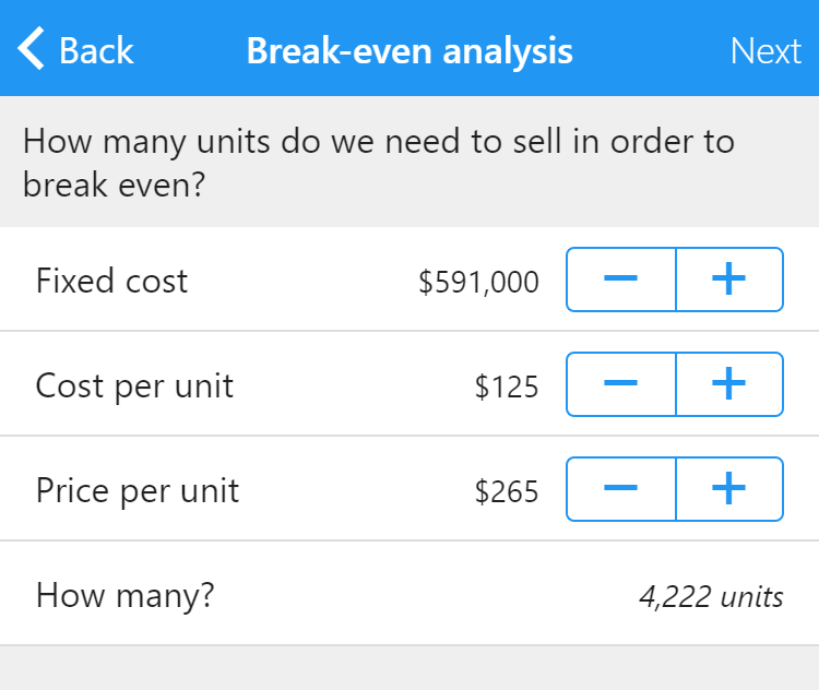 how to do a break even analysis