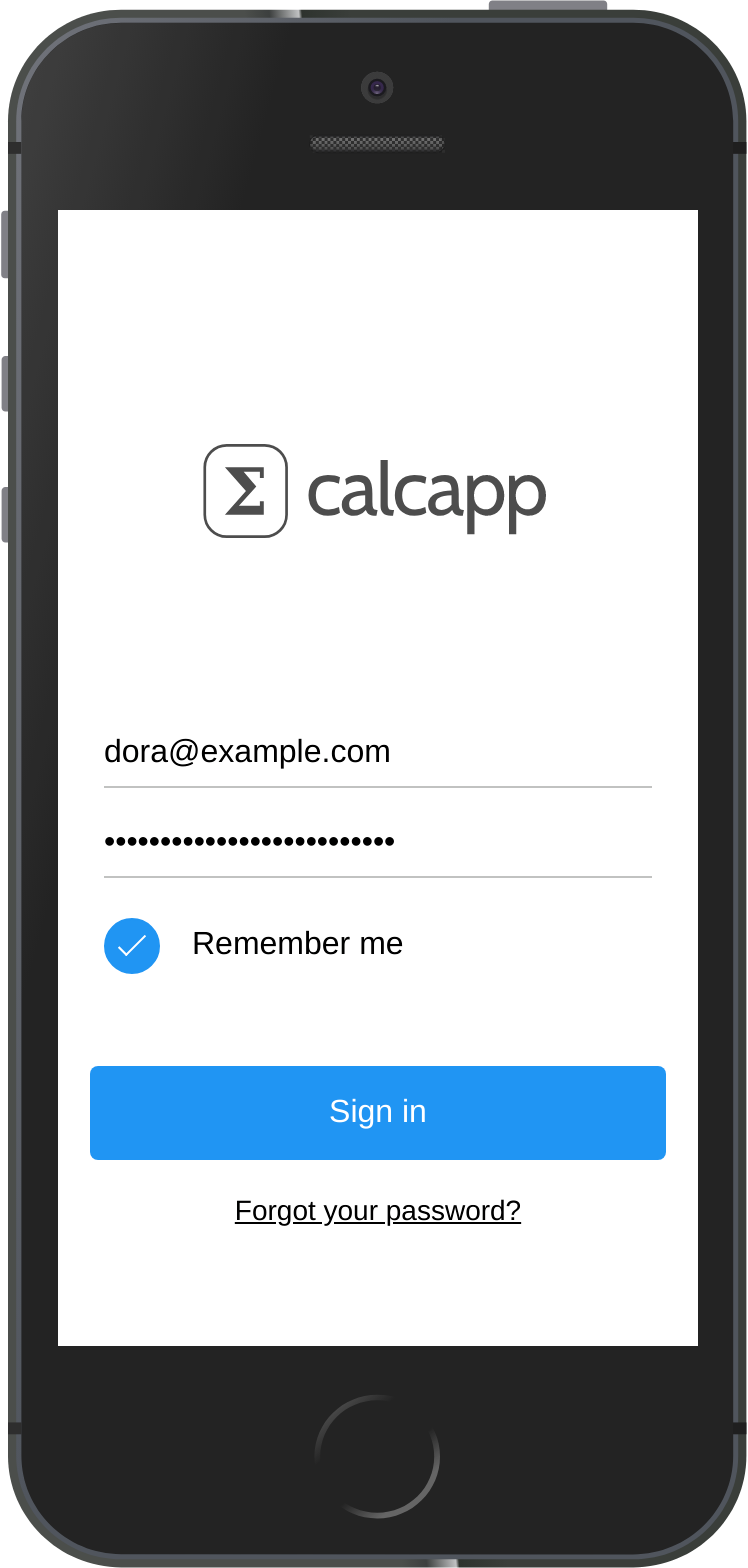 An unbranded version of the user sign-in screen